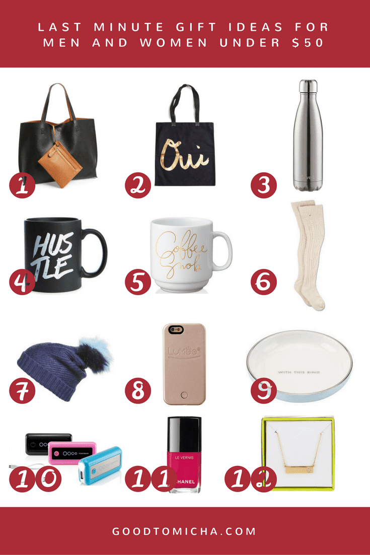 holiday gift guide: easy last minute gift ideas under $50