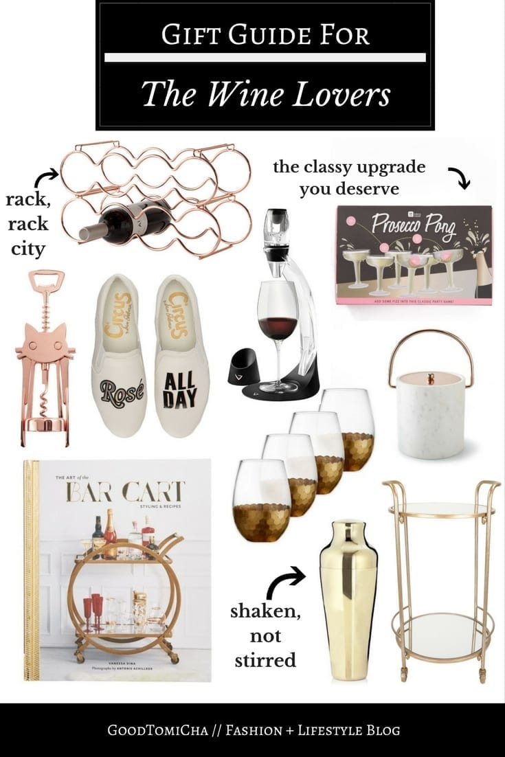 Best wine gift ideas for wine lovers on the blog! Iu0027m sharing bar  sc 1 st  GoodTomiCha & Holiday Gift Ideas: Wine Lovers