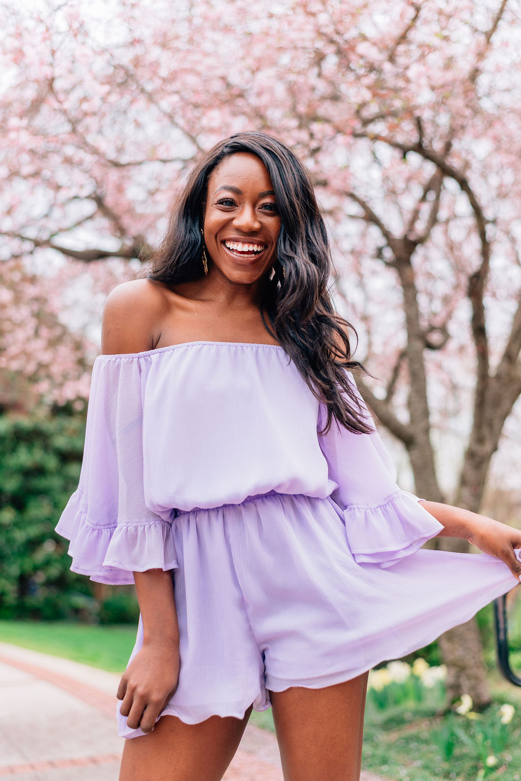 5aae3df07be9ae The Lavender Romper I m Crushing on For Spring