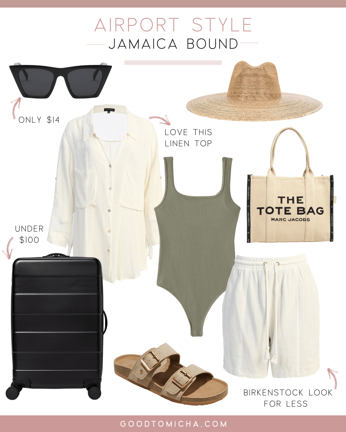 airport style for a tropical getaway in Jamaica